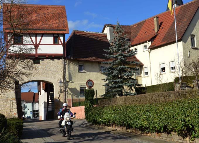 Gemrigheim - eine Station auf unserer Motorradtour Strohgäu Löchgau 2014