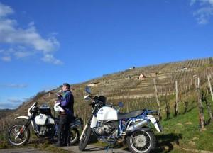 Pause im Weinberg bei Besigheim - Motorradtour Strohgäu Löchgau 2014
