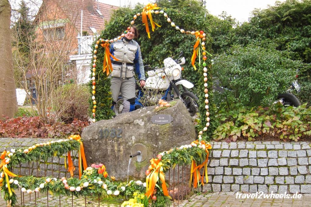 Osterbrunnen Oppelsbohm Motorradtour 2016 Ostermontag travel2wheels