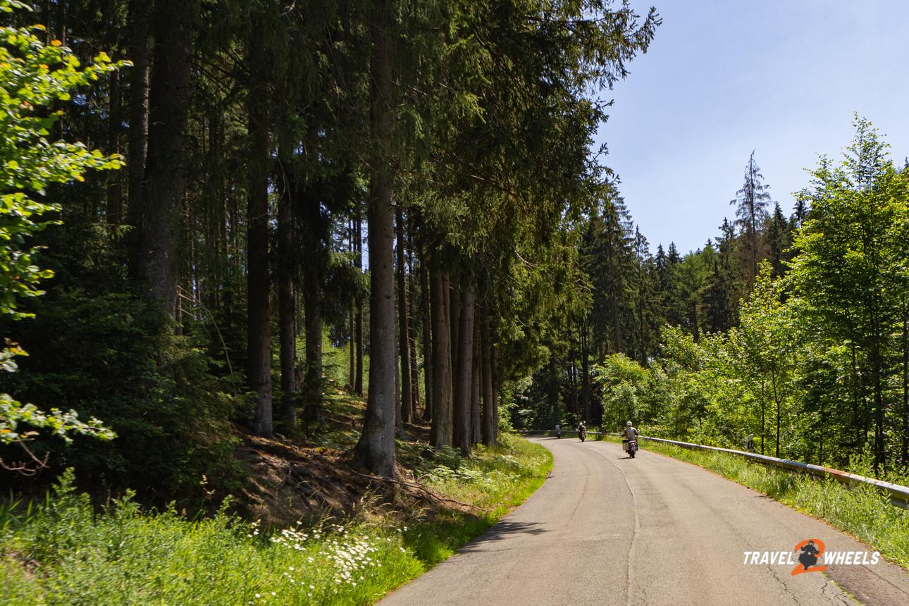 Motorradtour Sauerland Wald